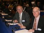 Peter Götz und Dr. Norbert Lammert bei einer Sitzung in Panama
