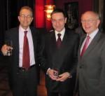 v.l.n.r: Botschafter Dr. Tim Guldimann, Gesandter Dr. Urs Hammer, Peter Götz MdB