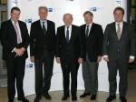 V.l.n.r: Robert W. Huber (Vors. Außenwirtschaftsausschuss); Prof. Hans-Peter Mengele (IHK-Hauptgeschäftsführer); Peter Götz, MdB; Gerd Stracke (IHK-Vizepräsident, Vors. Handelsvermittlerausschuss); Herbert Striebich (Vors. Verkehrsausschuss).