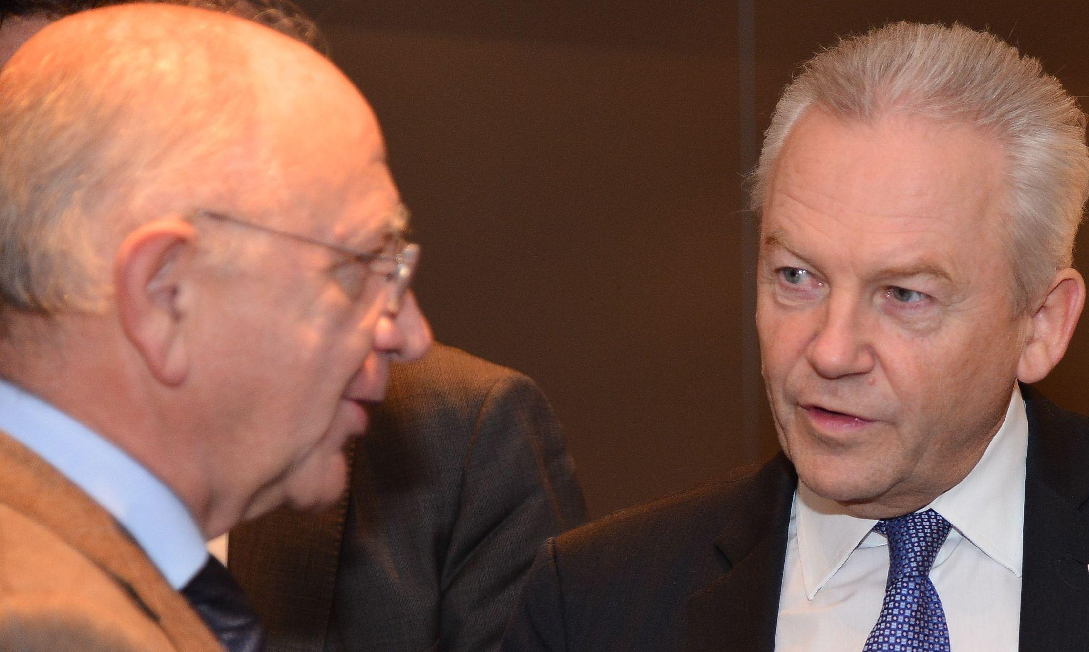 Peter Götz im Gespräch mit Bahnchef Rüdiger Grube