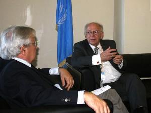 Peter Götz im Gespräch mit Dr. Joan Clos, Executive Director von UN-HABITAT