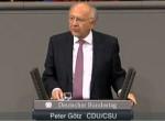 Peter Götz im Plenum