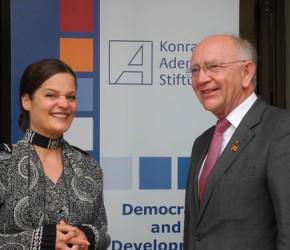 Dr. Angelika Klein und Peter Götz MdB