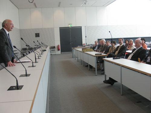 Peter Götz im Gespräch mit der IHK Karlsruhe im Reichstag