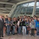 Gruppenfoto auf der Fraktionsebene im Reichstag