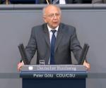 Peter Götz im Plenum des Deutschen Bundestages