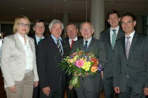 Peter Götz mit dem Vorstand der Arbeitsgemeinschaft Kommunalpolitik der CDU/CSU-Bundestagsfraktion